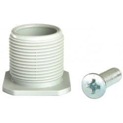 Platine en PVC pour pied d'un diamétre de 40mm