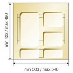 Poubelle sélective 47 Litres pour caisson de 600mm