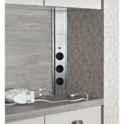 Bloc prises d 39 angle sous meuble haut accessoires cuisines for Multiprise cuisine angle