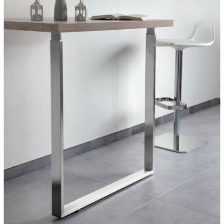 Pied de table rectangulaire télescopique
