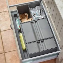 Collecteur gris orion pour tiroir en situation