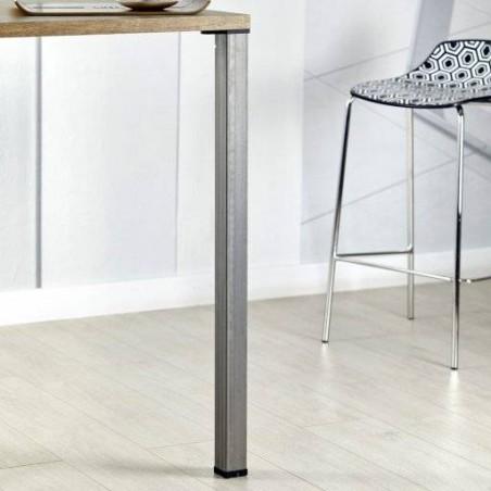 Pied de table carré en acier