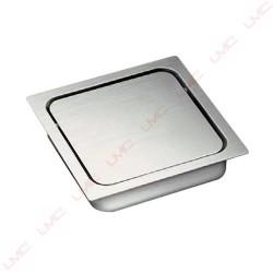 Trappe carrée en inox pour vide déchets
