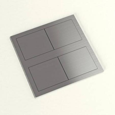 Bloc 2 prises encastrable carré IP54