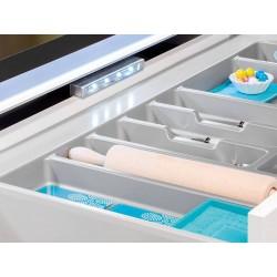 Range-couverts Optima universal dans le tiroir