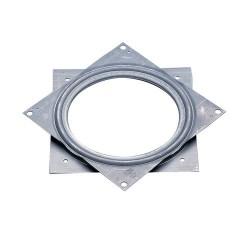 Support TV rotatif métallique carré