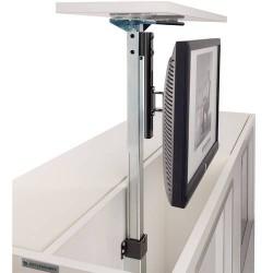 Support TV écran plat téléscopique à encastrer dans meuble