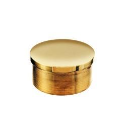 Embout plat de main courante laiton poli diam 25mm
