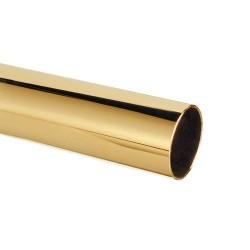 Tube de main courante de bar laiton poli diam 25mm