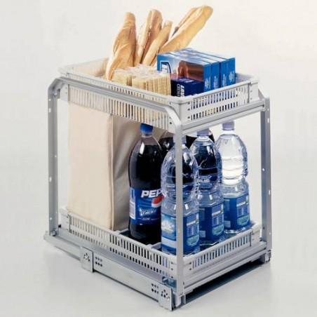 Ensemble coulissant pain et bouteilles