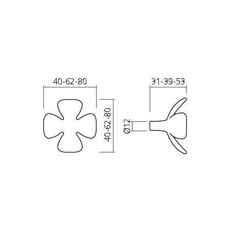 Porte manteaux 3 fleurs