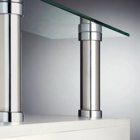 Console de bar droite fixation invisible acier et zamac