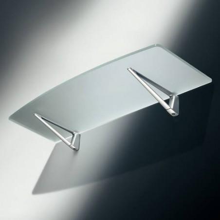 Console d'étagère pour tablette bois et verre