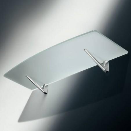 Console pour étagère en bois et verre