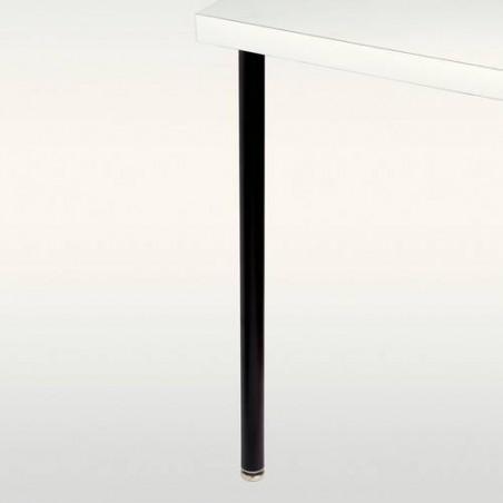 Pied de table métallique rond diamétre 35mm.