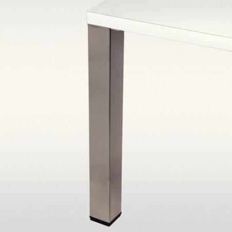 Set de 4 pieds de table métalliques carrés 80x80MM