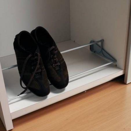 Porte chaussures à tringles télescopiques