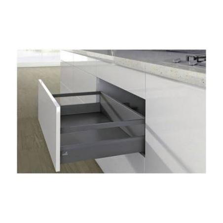 Kit tiroir à casseroles avec côtés de tiroir 94mm gris
