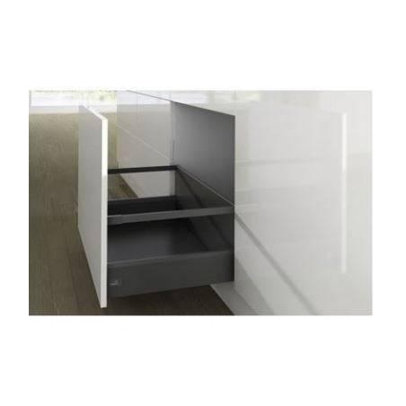 Kit tiroir à casseroles avec côtés de tiroir 126mm gris