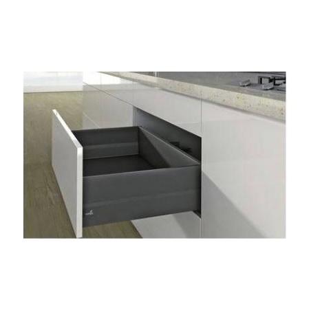 Kit tiroir à casseroles avec TopSide gris hauteur 186mm