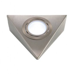 Spot led support triangulaire acier finition inox