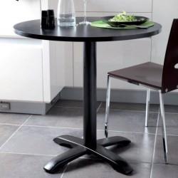 Pied de table central rond en fonte noire