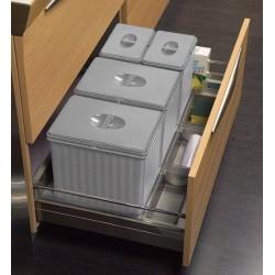 Kit poubelle pour tiroir en situation