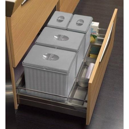 Collecteur 4 seaux pour tiroir