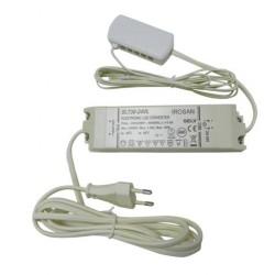 Convertisseur extra-plat de 24V 3W à 30W avec câble d'alimentation