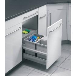 Aménagement poubelle pour tiroir de 450mm dans un caisson