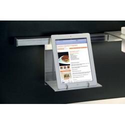Etagère porte-tablette numérique aluminium pour crédence