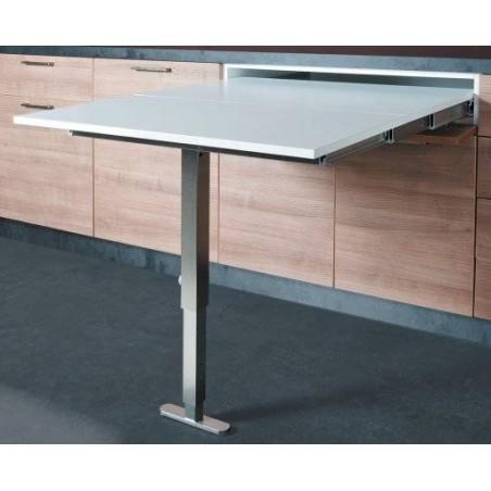 Table escamotable avec pied