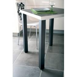 Pieds de table carré en acier