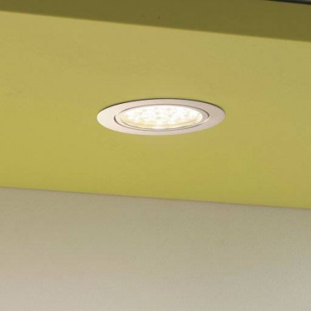 Kit spot LED extra plat finition alu avec convetisseur