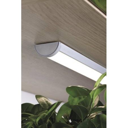 Profil LED demi-lune finition aluminium anodisé