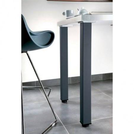 Pied de table métallique carré