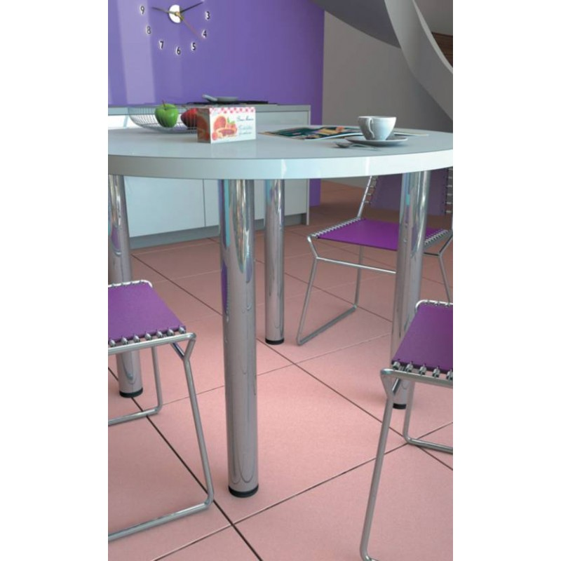 Pied de table en inox ou acier