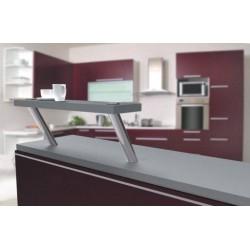 Support rond incliné pour tablette en verre et bois
