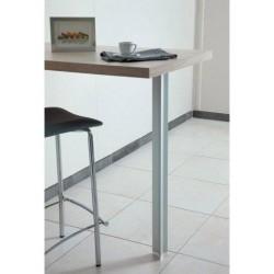 Pied de table et snack en aluminium en situation