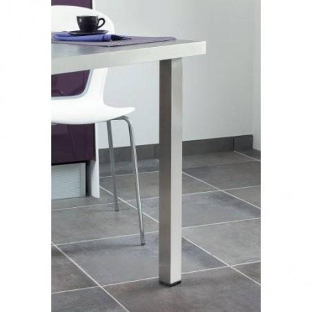Pied de table carré en inox