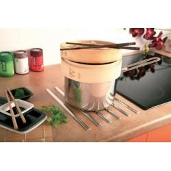Repose plat en baguettes prêt à poser en situation