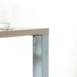 Platine de fixation pour montage affleurant avec plateau en bois