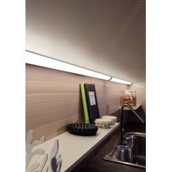 Réglette LED d'angle en applique sous meuble haut