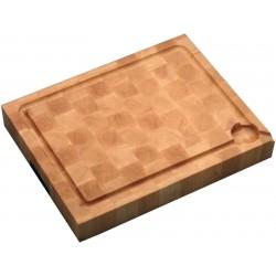Billot de cuisine à poser, en bois debout, garanti usage alimentaire