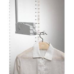 Elévateur porte cintres escamotable double charge avec crochet