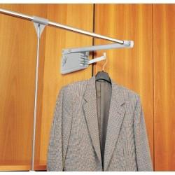 Elévateur porte cintres escamotable double charge pour suspendre vos vestes