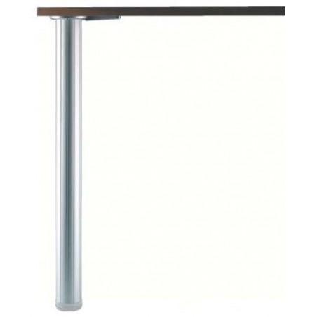 Pied de table en aluminium cannelé hauteur 710mm